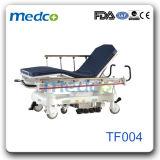 L'Hôpital d'urgence en acier inoxydable luxueux brancard patient chariot hydraulique