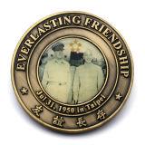 Pièce de monnaie en laiton de souvenir de bronze en métal de cru d'imitation antique d'usine
