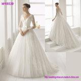 Платье a V-Шеи официально - линия серебр отбортовывая мантию W18539 венчания