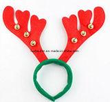 Bandeau rouge d'andouiller de renne pour Noël