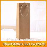 Bolsa de papel marrón con ventana para botella de vino