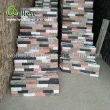 온난한 음색 벽지 판자벽을%s 혼합 색깔 규암 문화 돌 선반 돌