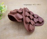 Moulage de gâteau de chocolat de silicones de catégorie comestible
