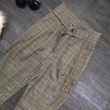 Retro risvolto del vestito delle bande verticali con il Pantsuit Double-Breasted
