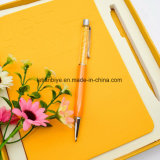 Veelkleurig die Notitieboekje met het Metaal van het Kristal van de Kwaliteit als Gift van het Bureau wordt geplaatst (Lt.-C654)