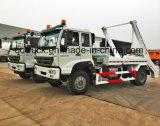 Carro del cargador del salto de la marca de fábrica 4X2 de HOWO, carro de basura y carro de la basura