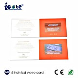 2017 подгонял самую новую брошюру видео- карточки LCD 6 дюймов видео- для приветствия/дела/приглашения