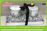 Luxo pintadas Dom decorativas velas de vidro para o Natal