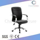 낮게 고품질은 역행시킨다 회전대 까만 가죽 사무실 의자 사무용 가구 (CAS-EC1814)를