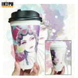 Papel de parede simples descartáveis chávena de café para beber quente