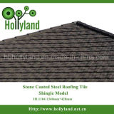 La pietra del materiale di tetto scheggia le mattonelle di tetto rivestite del metallo (mattonelle dell'assicella)