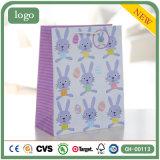 Sacs en papier enduits de cadeau de bel de lapin de Pâques art de vacances