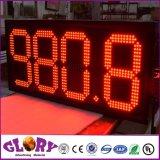 Visualización al aire libre de la muestra del precio de la gasolina de 7segment Digitaces LED