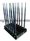 De mobiele Stoorzender van het Signaal met 12 Antennes die Al 2g, 3G blokkeren, 4G de Stoorzender van het Signaal van de Telefoon van de Cel