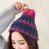 Chapeau tressé tricoté chaud de Beanie progressif de chapeaux teint par relation étroite de l'hiver unisexe de l'automne des femmes (HW122)