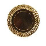 Preiswertes Preis-ovalgeschnittenes Metallsternförmiges Abzeichen-Decklack-Abzeichen