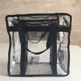 Les sacs à main faits sur commande de plage voient à travers le sac d'emballage clair transparent de messager