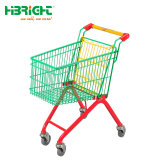 Supermarkt-scherzt bunte Puder-Beschichtung Einkaufen-Laufkatze