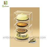 Kundenspezifischer antiker Acrylgefäß-Kuchen-Standplatz