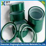 Nastro adesivo dell'animale domestico di verde del poliestere dell'isolamento del silicone termoresistente