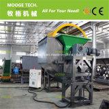 Resíduos plásticos PET/HDPE/garrafa de LDPE máquina triturador de eixo duplo