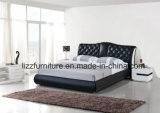 Modern Leisure Home Furniture Bedroom Leather Bed Software