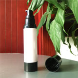 ポンプスプレーの黒の空気のないプラスチック装飾的なびんとしてネジ式小さいプラスチック