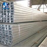 Pfc laminadas en caliente de acero al carbono galvanizado canal U