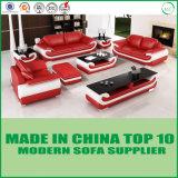 Sofa en cuir sectionnel de meubles modernes de salle de séjour