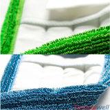 Голубое Microfiber Scrubbing плоско влажный Mop с карманн