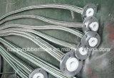 PTFE alineó adentro con el manguito del metal flexible de la trenza del alambre de los Ss