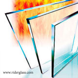 화재에 의하여 평가되는 유리제의와 단단하게 한 안전 건축 유리