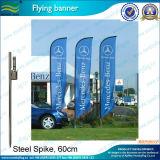 La pendaison bannière publicitaire bannière aérienne de pôle d'aluminium