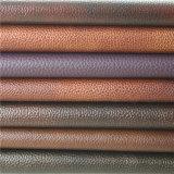 Piel artificial del PVC de la mejor exportación de China para el sofá casero de los muebles