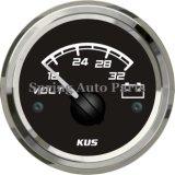 """2 """" 52mm quadrati Voltmeter Voltage Gauge 24V 18-32V con Backlight"""