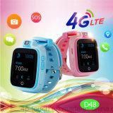 perseguidor del reloj de 4G Lte GPS con la función que llama video D48