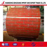 붉은 벽돌 패턴 색깔 Caoted에 의하여 직류 전기를 통하는 강철판 인쇄