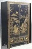 Китайский шкаф античной мебели покрашенный