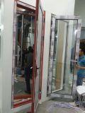 アルミニウムガラスフレンチドア(外へ向かう開き窓のドア)