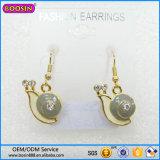 De Juwelen van de Legering van het Zink van Boosin van Guangzhou, DwarsBergkristal Enaeml Earring# 21552
