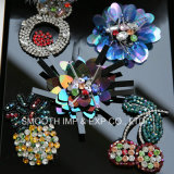 Da decoração Handmade da roupa da flor da forma sapata de vestido colorida da correção de programa do Sequin