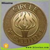 공장 직접 판매 동전은 도매로 2개의 유럽 동전 및 관례 많은 아무 최소한도 수집 가능한 동전의 새로운 디자인 화폐로 주조하지 않는다