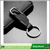 Couro relativo à promoção feito sob encomenda Keychain da alta qualidade