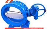Precios bajos de gran diámetro de conexión de brida de doble cara de la válvula de agua
