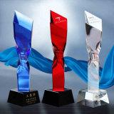 22cm Altura em branco Clear Diamond Crystal Trophy for Business Gift