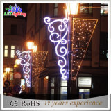 Colorful Outdoor LED Christmas Holiday Street Decoração Pole Lights