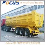 Aanhangwagen van de Stortplaats van de Cilinder van drie As de Hydraulische, de AchterAanhangwagen van de Vrachtwagen van de Kipwagen voor het Werk van de Bouw