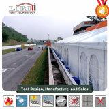Tent van de Luifel van de Structuur van het aluminium de Op zwaar werk berekende met de Voeringen & de Gordijnen van de Decoratie