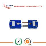 Tipo plugue e conetor de Tankii T do par termoeléctrico com cor azul