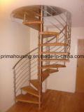 Caliente-Vendedores Solid Wood Newel hierro forjado Barandilla Escaleras